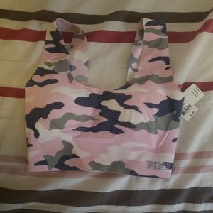 Pink Camo seamless sports bra XS